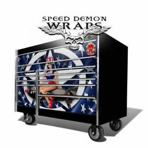 Snap On Decal Skin Tool Box Wrap American Pin Up Vinyl Graphics Fits Krl 72