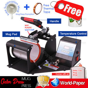 Transfer Sublimation Cup Coffee Mug Heat Press Printing Machine Digital V 3 0