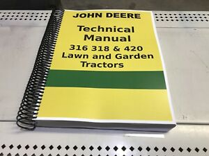 316 John Deere Lawn And Garden Tractor Technical Service Shop Repair Manual