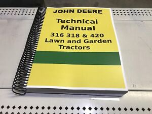 420 John Deere Lawn And Garden Tractor Technical Service Shop Repair Manual