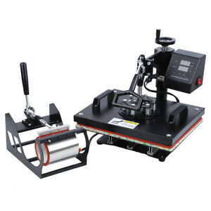 15 x12 Swing Away Digital T shirt Heat Press Transfer Sublimation Machine Diy