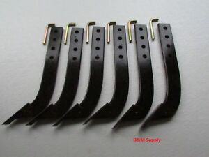 16 3 Hole Not 4 Box Blade Scape Blade Ripper Shanks 6 Pack With Pins