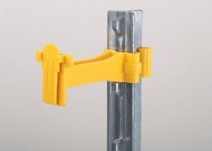 Wide Tape Fence Offset Insulator For T Posts Electric Tape Up To 1 5 Inch 250pk