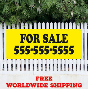For Sale Advertising Vinyl Banner Flag Sign Discount Clearance Real Estate