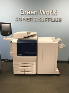 Xerox Color 550 With An Advanced Finisher bustle Fiery 700k Meter Booklet Maker
