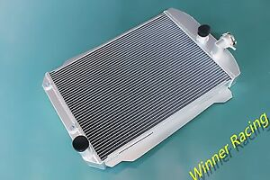Aluminum Radiator Fit Chevy Hot Street Rod 350 V8 W Tranny Cooler A T 1939 56mm