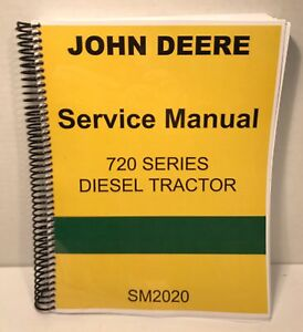 John Deere 720 Diesel Technical Service Manual With Complete Parts Breakdown