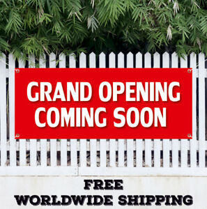 Banner Vinyl Grand Opening Coming Soon Advertising Sign Flag New Store Shop