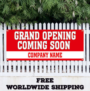 Grand Opening Coming Soon Advertising Vinyl Banner Flag Sign New Store Shop