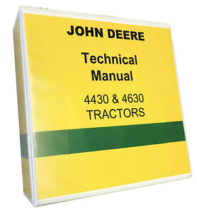 John Deere 4430 Technical Service Manual Shop Manual Tractor 1050 Pages