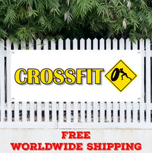 Crossfit Advertising Vinyl Banner Flag Sign Program Nutrition Exercise Gym Core
