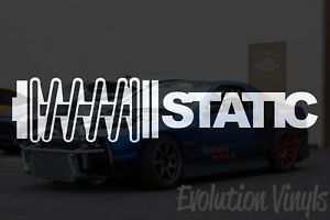 Static Sticker Decal V1 Jdm Lowered Static Stance Low Drift Slammed Turbo Nos
