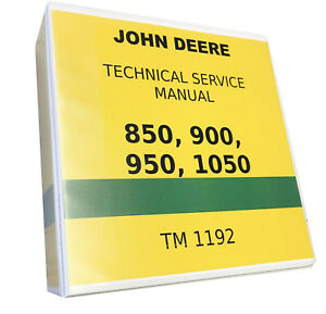 850 John Deere Technical Service Shop Repair Manual 818 Pages