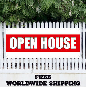 Open House Advertising Vinyl Banner Flag Sign Grand Opening Business Fair Motel