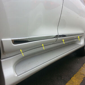 For 2010 2018 Toyota Prado Fj150 Chrome Pearl White Door Body Molding Cover Trim