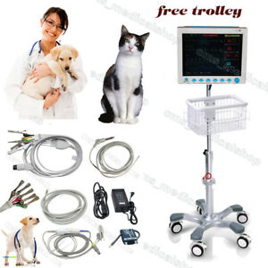U s Shiip veterinary Icu Patient Monitor 6 Parameters Vet Using free Trolley