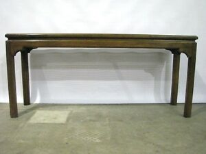 Vintage Ethan Allen 60 Console Sofa Table With Contemporary Chippendale Style