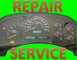 Repair Service For 2003 2006 03 06 Chevrolet Silverado Instrument Panel Cluster