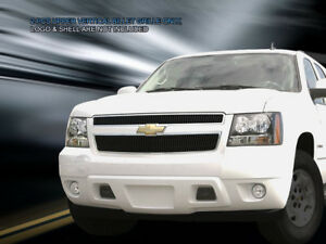 Black Billet Grille Upper Insert For 2007 2014 Chevy Avalanche Suburban Tahoe
