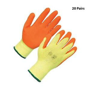 20 X Latex Builders Gloves Small Quality Ppe For Construction General Use