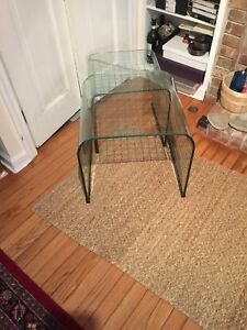 Pace Glass Checkerboard Nesting Tables Original Owner Need To Be Polished
