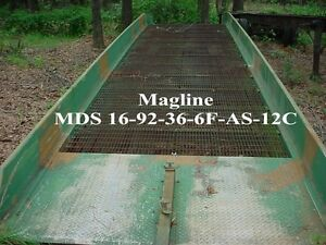 Magline Mobile Forklift Loading Ramp 92 W X 36 L Mds 16 92 36 6f as 12c