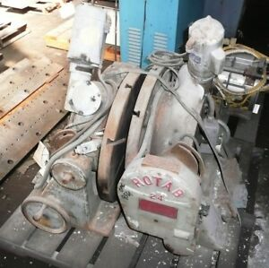 Two 24 Rotab 24 Rotary Table Positioner Power Rotation Manual Tilt T slotted