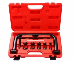 Auto Valve Spring Compressor C Clamp Tool Set For Motorcycle Atv Cars W case