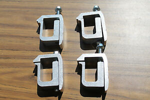 G 1 Truck Cap Clamps Silver Aluminum Made In The Usa 4 Pack