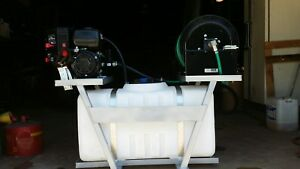 Skid Sprayer 50 Gl W Lct 5 0hp Eng With Hypro 4101c Pump 250 1 2 Hse