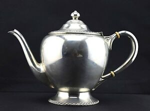 Sterling Silver Dunkirk Silversmiths Teapot Tea Pot Pattern 500 Plain