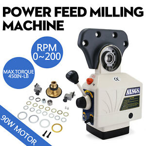 Al 310s X axis Power Feed Milling Machine 450in lb Peak 0 200rpm 5 8 Shaft
