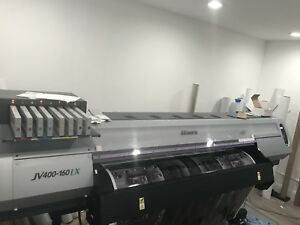 Mimaki Jv400 160lx 64 Latex Printer For Sale Used Great Condition
