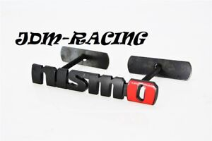 Bolt On 3d Metal Black Nismo Front Emblem Badge For Grille Billet For Nissan