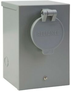 Inlet Power Box 30 Amp Outdoor Generator Reliance Controls Circuit Breaker New