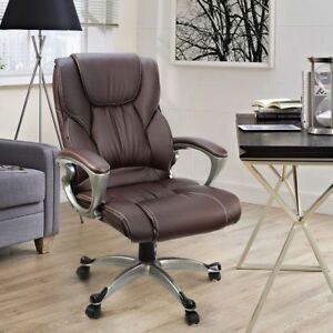 Usa Pu Leather High Back Office Chair Executive Task Ergonomic Computer Desk Ekg