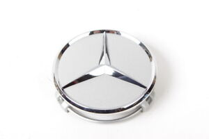 New Genuine Oem Wheel Center Hub Cap Star Silver Chrome Cover Mercedes B66470202