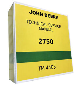 2750 John Deere Technical Service Shop Repair Manual