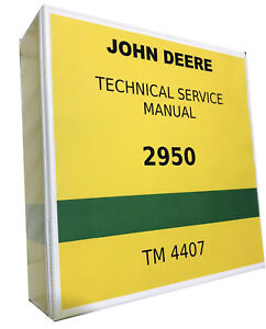 2950 John Deere Technical Service Shop Repair Manual 844 Pages