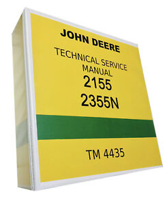 2155 John Deere Technical Service Shop Repair Manual