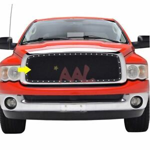 Aal For 2002 2003 2004 2005 Dodge Ram 1500 Steel Black Mesh Grille Grill Insert