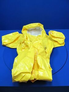 Dupont Tychem Br 528 Tyl Rear Entry Yellow Fully Encapsulating Level B Suit