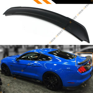 For 2015 2019 Ford Mustang Gt Track Pack Style Abs Matt Black Trunk Spoiler Wing