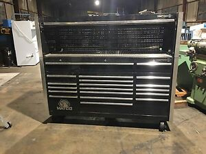 Matco Tools Custom 3 Bay Rollaway Toolbox Hutchmb7535 20 Drawers Black Nice