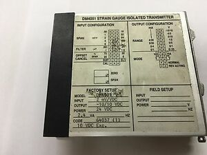 Wilkerson Instrument Strain Gauge Dm4051 Input Isolated Output Tra