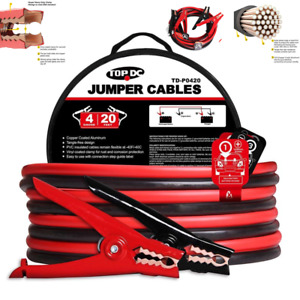 Energizer 4 Gauge Jumper Car Battery Cables 16ft Booster Jump Start Your Vehicle