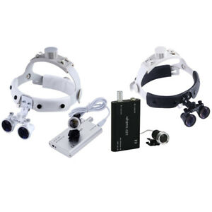 Dental Loupes 3 5x r Surgical Medical Binocular Optical Glass Head Light Lamp