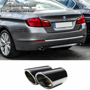 Dual Black Bmw F10 F11 535i Exhaust Muffler Tips 2009 17 Replacement