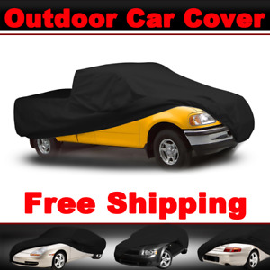 Waterproof All Weather Black Car Cover Truck Pickup Outdoor Indoor For Gmc