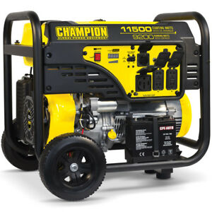 Champion 100110 9200 Watt Electric Start Portable Generator